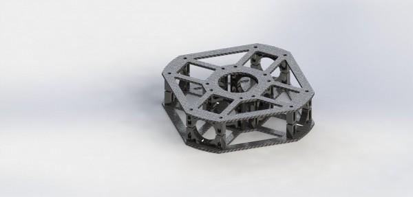 Centerbox für Quadrocopterrahmen Black